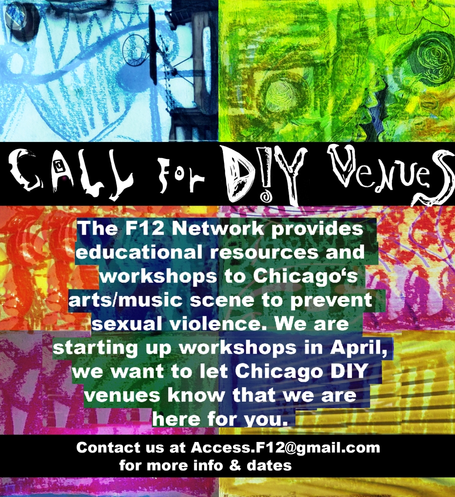 F12 Call for Venues flyer